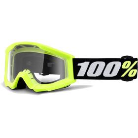 100% Strata Mini Anti Fog Clear goggles geel/zwart
